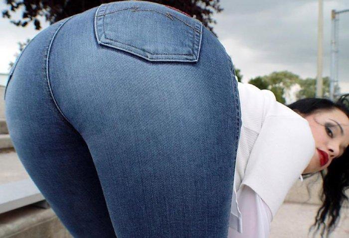 Фото огромные жопы в джинсах